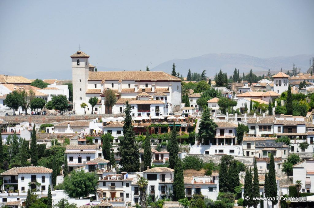 Albayzin-Old District of Granada in the Shadow of the